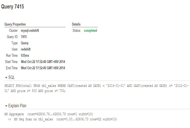 Redshift query ID image